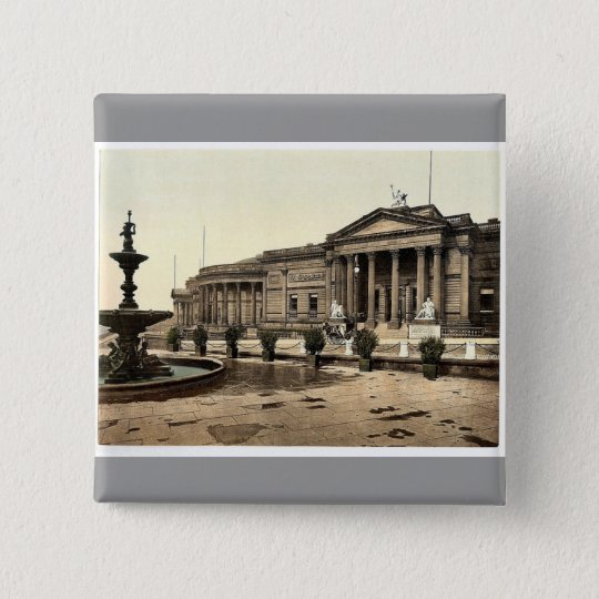 The art gallery and museum, Liverpool, England rar 15 Cm Square Badge