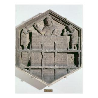 The Art of Building, hexagonal decorative relief Postcard