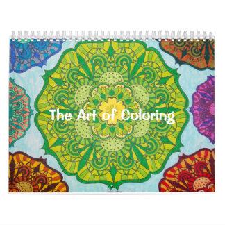 The Art of Coloring Calendar