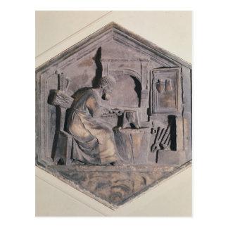 The Art of Forging, hexagonal decorative Postcard