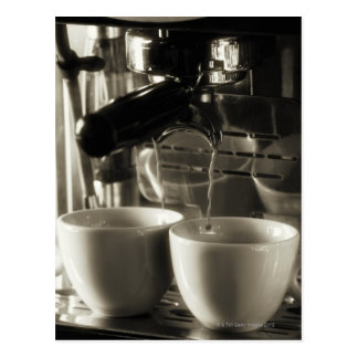 The art of fresh coffee making / pouring postcard