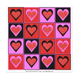 The Art of Love Heart III Mosaic Gallery Wrap Canvas