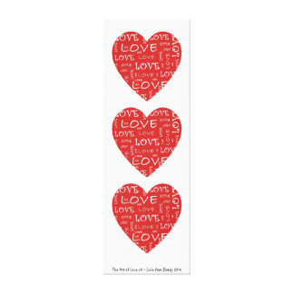 The Art of Love x3 Gallery Wrap Canvas