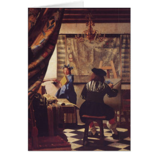 The Art of Painting by Johannes Vermeer Greeting Cards