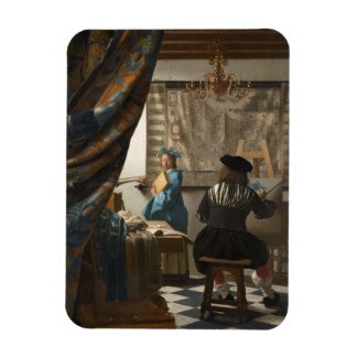 The Art of Painting by Johannes Vermeer Rectangular Magnets