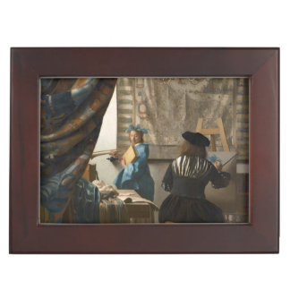 The Art of Painting by Johannes Vermeer Keepsake Box