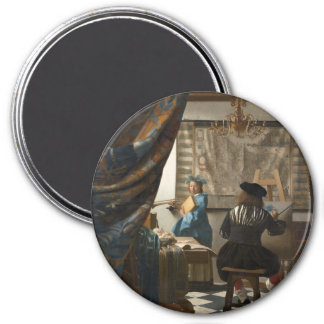 The Art of Painting by Johannes Vermeer Refrigerator Magnet
