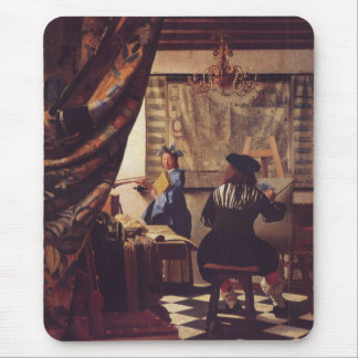 The Art of Painting by Johannes Vermeer Mouse Mat