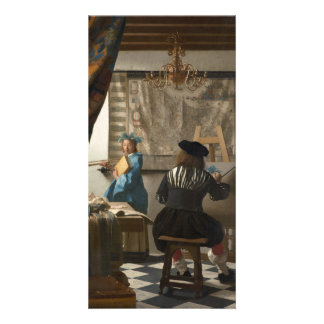 The Art of Painting by Johannes Vermeer Photo Card Template