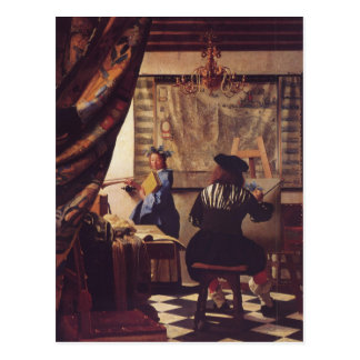 The Art of Painting by Johannes Vermeer Postcard