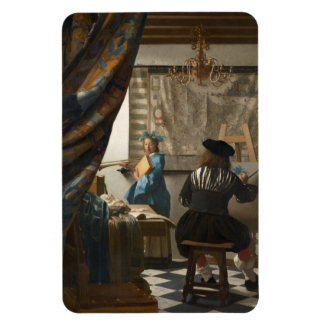 The Art of Painting by Johannes Vermeer Rectangle Magnet