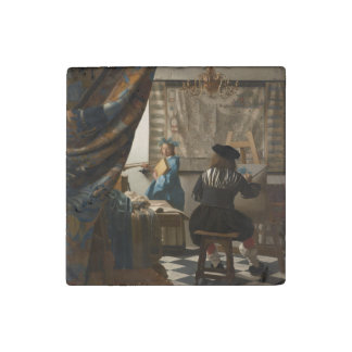 The Art of Painting by Johannes Vermeer Stone Magnet