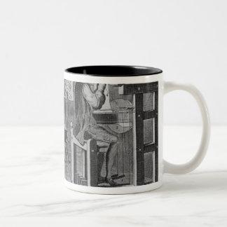 The Art of Stocking-Frame-Work-Knitting Two-Tone Coffee Mug