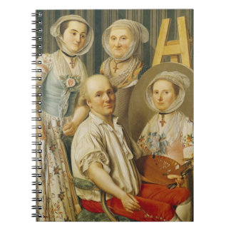 The Artist and His Family (oil on canvas) Notebooks