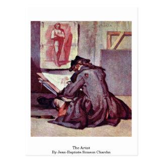 The Artist By Jean-Baptiste Simeon Chardin Postcard