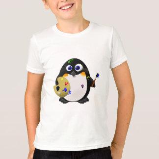 """""""The Artist"""" -- Cute Painter Penguin T-Shirt"""