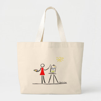 the Artist Large Tote Bag