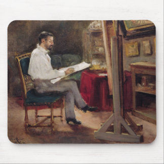 The Artist Morot in his Studio, c.1874 Mouse Pad