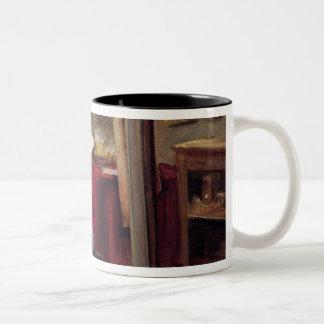 The Artist Morot in his Studio, c.1874 Two-Tone Coffee Mug