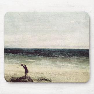 The Artist on the Seashore at Palavas Mouse Pad