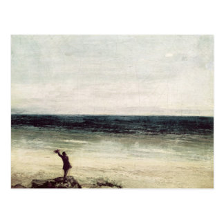 The Artist on the Seashore at Palavas Postcard