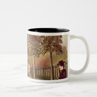 The Artist Painting his Wife, 1900-05 Two-Tone Coffee Mug