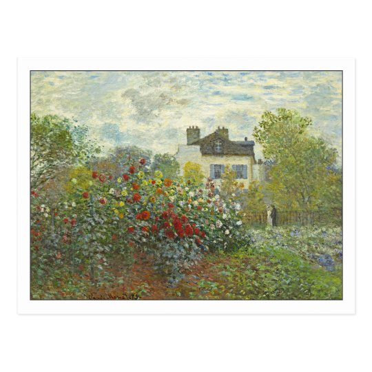 The Artist's Garden at Argenteuil by Monet Postcard