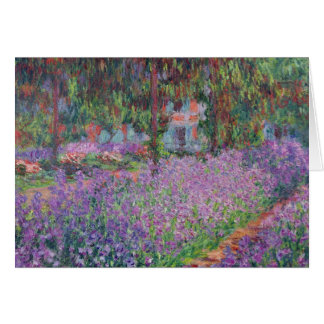 The Artist s Garden at Giverny 1900 Greeting Card