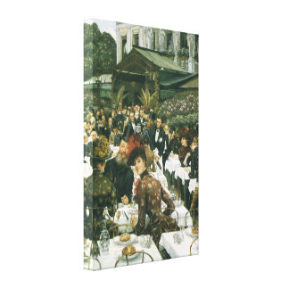 The Artist s Ladies by James Tissot Stretched Canvas Print