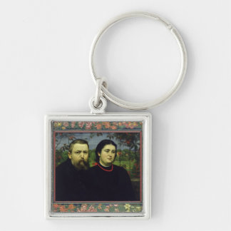 The Artist with his Wife Bonicella, 1887 Key Chain
