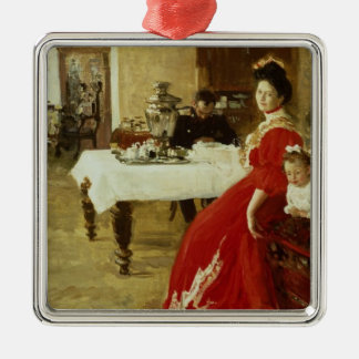 The Artist's Daughter, 1905 Silver-Colored Square Decoration