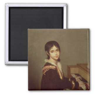 The Artist's Daughter at the Piano Magnet