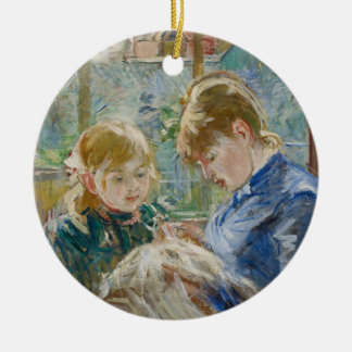 The Artist's Daughter, Julie, with her Nanny Christmas Ornament