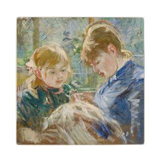 The Artist's Daughter, Julie, with her Nanny Wood Coaster
