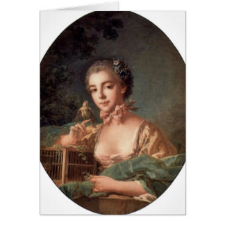 The Artist'S Daughter Oval By Francois Boucher Cards