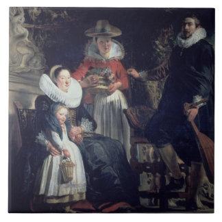 The Artist's Family (oil on canvas) 2 Tile