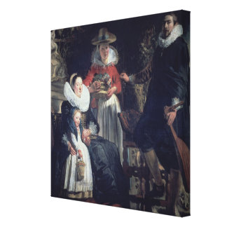 The Artist's Family (oil on canvas) Canvas Print