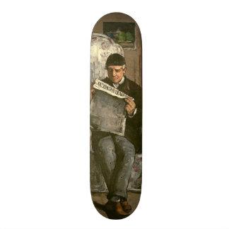 """The Artist's Father, Reading """"L'Événement"""", 1866 20.6 Cm Skateboard Deck"""