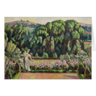 The Artist's Garden at Durbins, c.1915 (oil on can Card