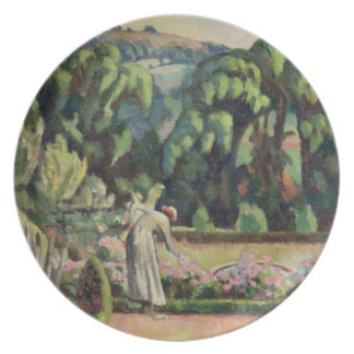 The Artist's Garden at Durbins, c.1915 (oil on can Plate