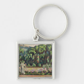 The Artist's Garden at Durbins, c.1915 (oil on can Silver-Colored Square Key Ring