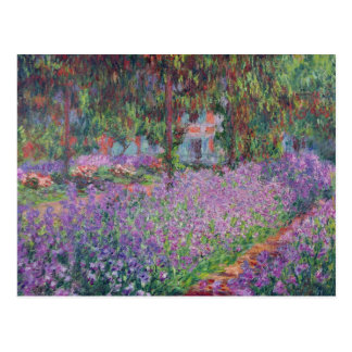 The Artist's Garden at Giverny, 1900 Postcard