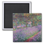 The Artist's Garden at Giverny, 1900 Square Magnet
