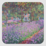 The Artist's Garden at Giverny, 1900 Square Sticker