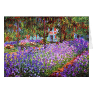 The Artist's Garden at Giverny by Monet Fine Art Greeting Card