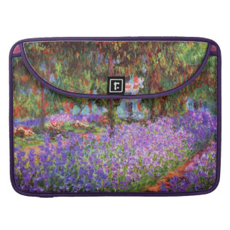 The Artist's Garden at Giverny by Monet Sleeve For MacBook Pro