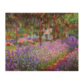 The Artist's Garden at Giverny by Monet Wood Wall Decor
