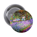 The Artist's Garden at Giverny, Claude Monet 6 Cm Round Badge