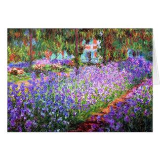 The Artist's Garden at Giverny, Claude Monet Card