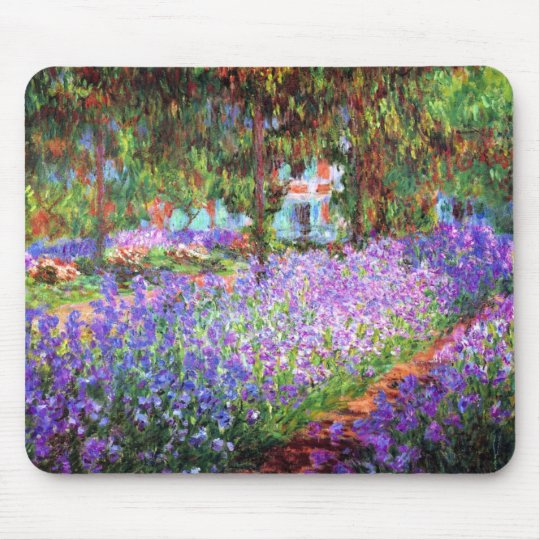 The Artist's Garden at Giverny, Claude Monet Mouse Mat